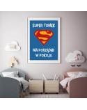 Plakat personalizowany Super dziecko