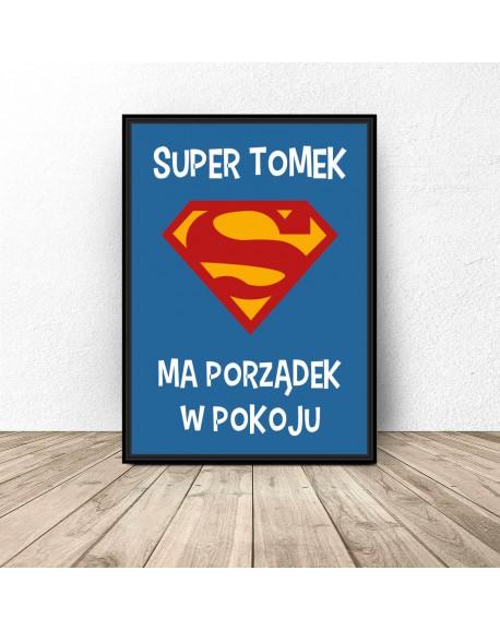 """Plakat personalizowany """"Super dziecko"""""""