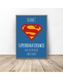 Motivational poster for the child Superheroes clean up 2