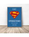Plakat motywacyjny dla dziecka Superbohaterowie sprzątają 2