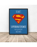 Motivational poster for the child Superheroes clean up 3