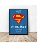 Plakat motywacyjny dla dziecka Superbohaterowie sprzątają 3