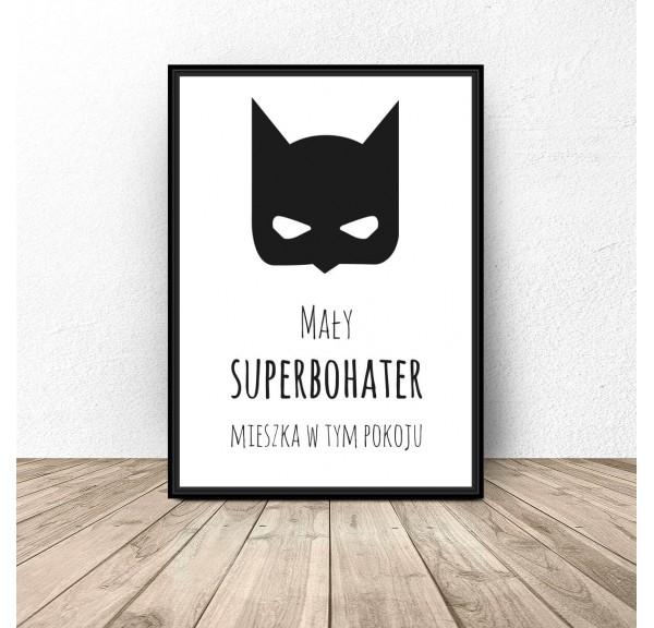 Poster for the child's room Little superhero