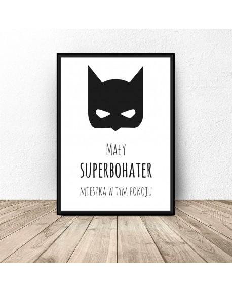 """Plakat do pokoju dziecka """"Mały superbohater"""""""
