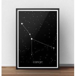 Plakat ze znakiem zodiaku Rak