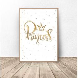 """Plakat do pokoju dziewczynki """"Princess"""""""
