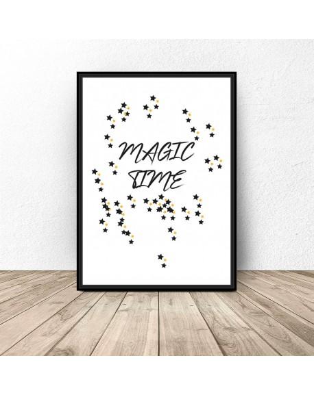 "Darmowy plakat ""Magic time"""