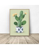 Poster Cactus on a green background 2