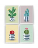 Set of 4 posters with cacti