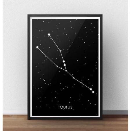 Plakat ze znakiem zodiaku Byk