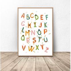 """Plakat """"Kolorowy alfabet"""""""