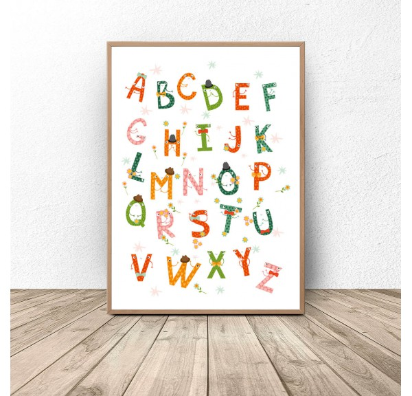Poster Colorful alphabet