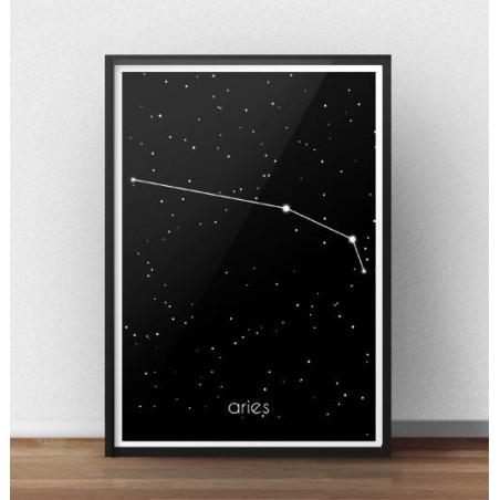 Plakat ze znakiem zodiaku Baran