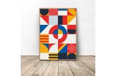 Plakat geometryczny w mozaikę