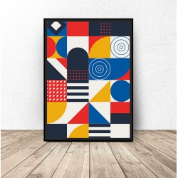 """Plakat """"Geometryczna mozaika"""""""