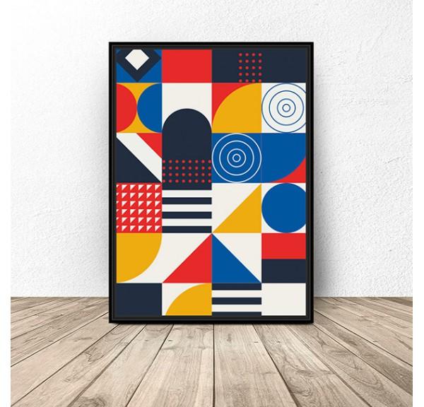 Plakat Geometryczna mozaika
