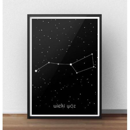 Plakat z gwiazdami Wielki Wóz