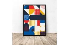 Geometryczny plakat z mozaiką