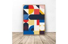 Geometryczno-abstrakcyjny plakat do salonu i przedpokoju