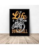 Black poster Downhill