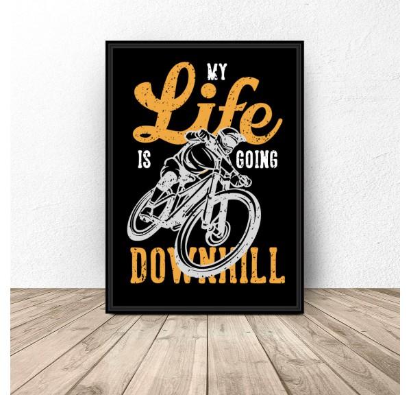 Czarny plakat Downhill