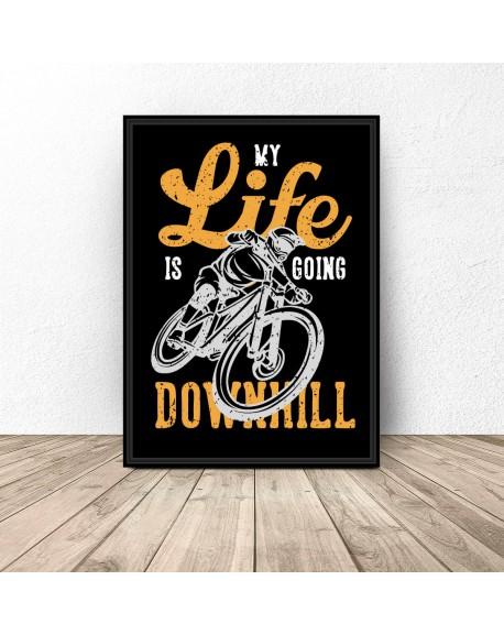 "Czarny plakat ""Downhill"""