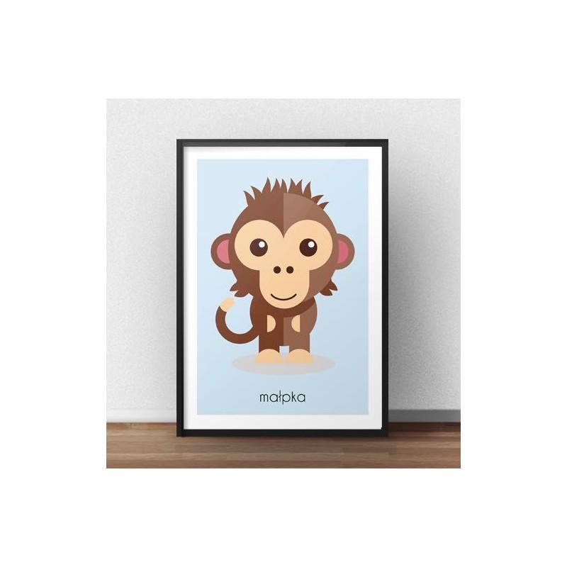 Children's poster Monkey