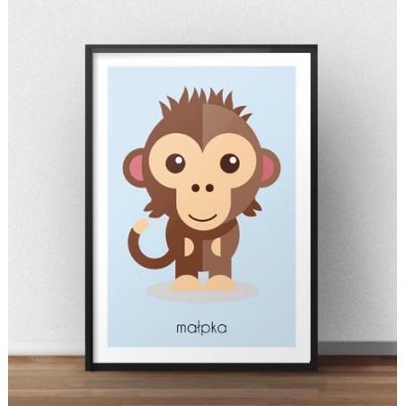 """Plakat dla dzieci """"Małpka"""""""