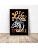 Black poster Downhill 2