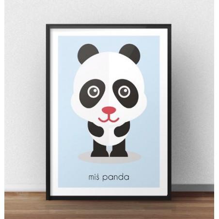 """Plakat dla dzieci """"Miś Panda"""""""