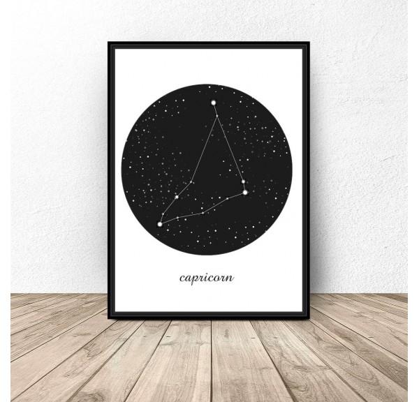Plakat gwiazdozbiór Koziorożec