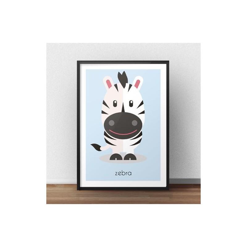 Poster for children Zebra