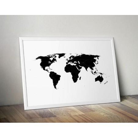 "Plakat ""Mapa świata"""