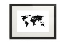Plakat z mapą świata z zaznaczonymi państwami świata
