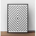 """Plakat geometryczny """"Symetryczne Linie"""" do powieszenia pionowo lub poziomo"""