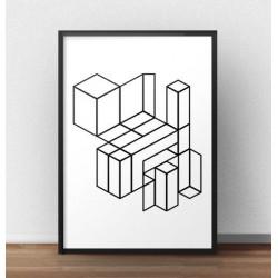 """Plakat geometryczny """"Klocki"""""""