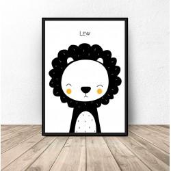 """Plakat dla dzieci """"Lew"""" - rozm. 50x70"""
