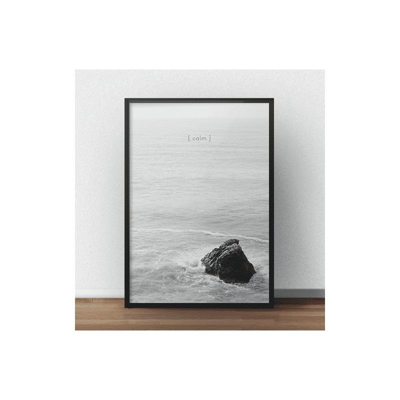 Black and white graphics on the wall Calm - rozm. 50x70