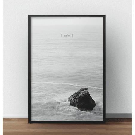 """Czarno-biała grafika na ścianę """"Calm"""" - rozm. 50x70"""