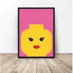 "Plakat klocki Lego ""Lady"""