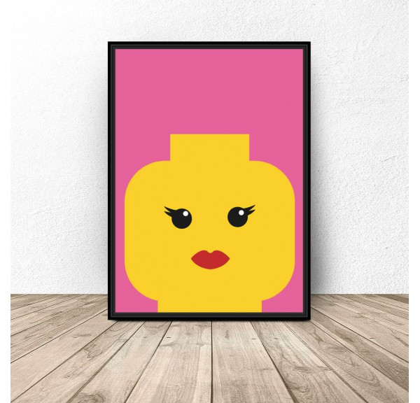 Plakat klocki Lego Lady