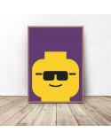 Plakat ludzik Lego Glasses