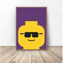 "Plakat ludzik Lego ""Glasses"""