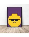 Plakat ludzik Lego Glasses 2