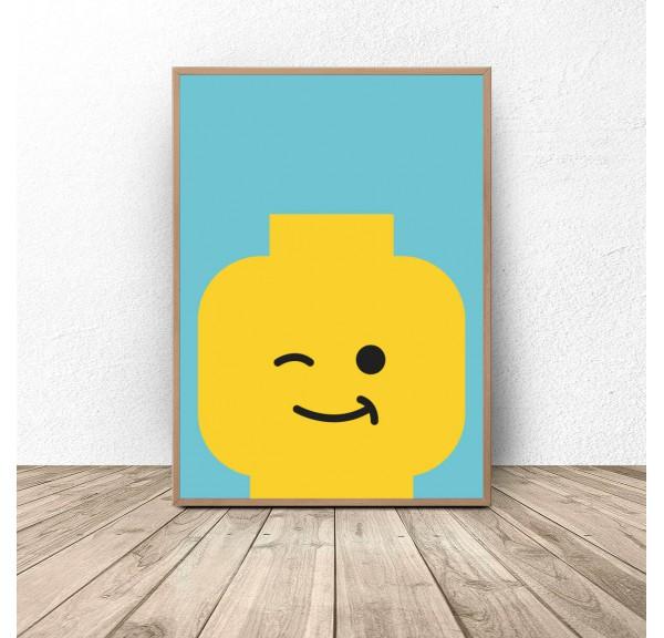 Lego man poster Blink