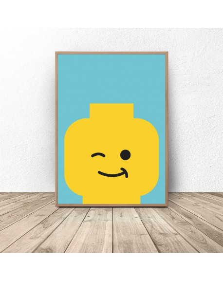 "Plakat ludzik Lego ""Blink"""