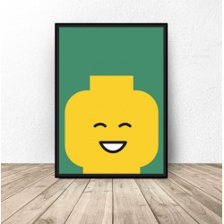 """Plakat ludzik Lego """"Smile"""""""