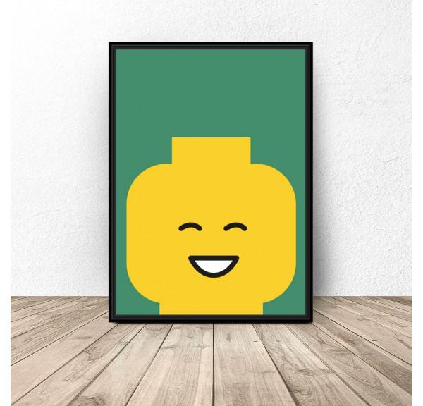 Plakat ludzik Lego Smile