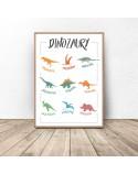 Plakat dla dzieci Dinozaury