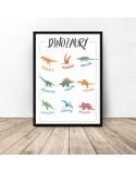 Plakat dla dzieci Dinozaury 2